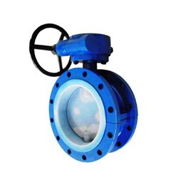 PFA Lined Flange Butterfly Valve for Oil Gas