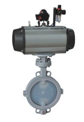 Pneumatic Butterfly Valve Lined with FEP copy