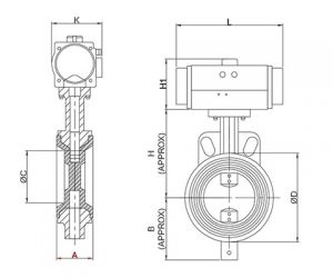 pneumatic-actuator-operated-butterfly-valve-drawing
